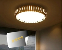 Simple Round LED Iron Tricolor Electrodeless Dimming Lamp Living Room Bedroom Ceiling Light The Simplicity Of
