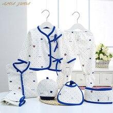 Комплект одежды для новорожденных 0-3 месяцев, хлопок, 4 сезона, нижнее белье с рисунком для маленьких мальчиков и девочек, одежда для младенцев Cyy183