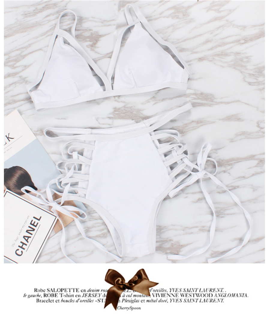 Бандажный комплект бикини, женский купальник, 2018, сексуальный купальник, бикини с высокой талией, купальный костюм, Бразильское бикини, Maillot ... 19