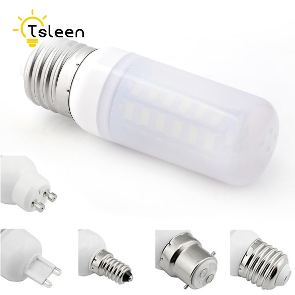TSLEEN 10x High Bright 5730 SMD E27 G9 LED Corn Lamp Bulb E14 B22 GU10 Milky White 110V 220V 7W 9W 12W 15W 20W 25W Led Light стоимость