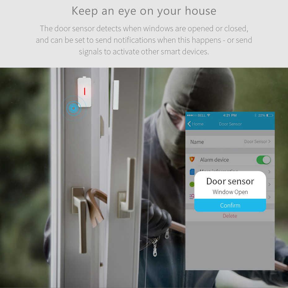 BroadLink S1 HUB sistema de alarma de seguridad para el Hogar Inteligente Wifi 433HMz Sensor de puerta de Monitor inteligente inalámbrico para la automatización del hogar