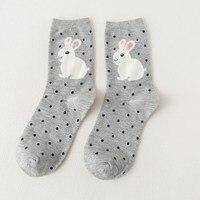 2017 5Pairs Lot Women Cute Cartoon Sock Cotton Animal Sock Breathable Soft Sock 3D Design Winter