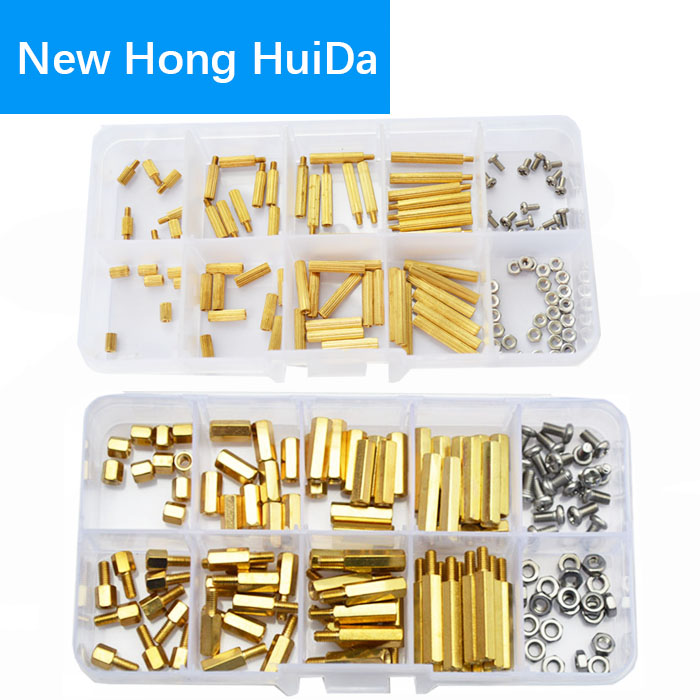 M2 M3 Male Female Brass Standoff Hexagonal Threaded Pillar Spacer Bolt Mounts Screw Nut PCB Motherboard Assortment Kit 240Pcs монитор iiyama 24 prolite b2483hs b3 черный b2483hs b3