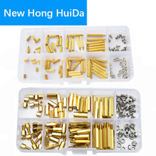 M2 M3 Male Female Brass Standoff Hexagonal Threaded Pillar Spacer Bolt Mounts Screw Nut PCB Motherboard Assortment Kit 240Pcs