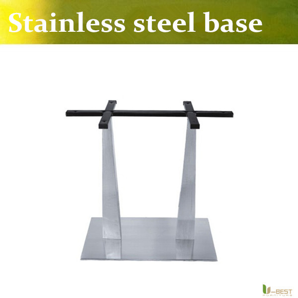U-BEST high quality Rectangular dining table stainless steel base Tea restaurant table legs