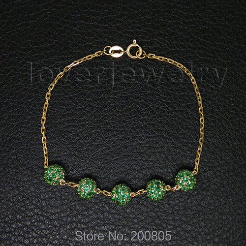 Popular Vintage Solid 18kt Yellow Gold Natural Green Emerald Bracelet NA0020 straight or elbow brass hose pipe fitting 6mm 8mm 10mm 12mm barb splicer 1 8 npt male thread copper barbed coupling connector