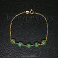 Popular Vintage Solid 18kt Yellow Gold Natural Green Emerald Bracelet NA0020