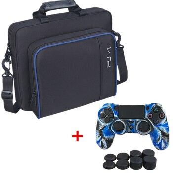 70c426a9b PS4 juego Sytem bolsa de lona bolsa de transporte bolso de hombro de  protección para PlayStation4 PS4 funda de silicona de consola o tapas de  pulgar