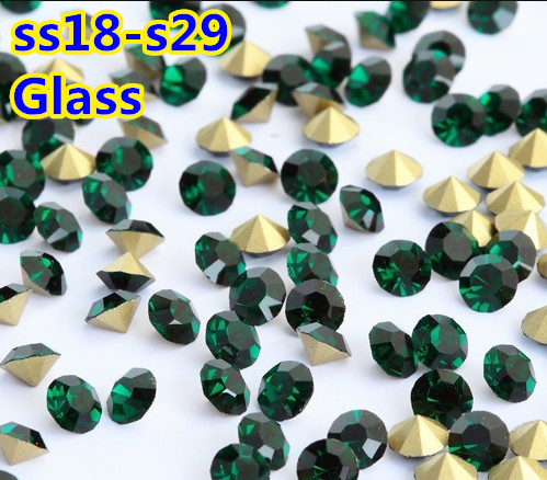 Emerald Color~SS18~SS29 Round Crystal loose pointback Beads   Stones ... 426f7016fe65