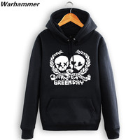 Green Day Man S Rock Thick Hoodie Black Color Men Women S Warm Cozy Hooded Sweatshirt