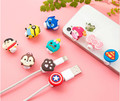 500pcs Cartoon USB Cable Earphone Protector headphones line saver For Mobile phone charging line data cable protection