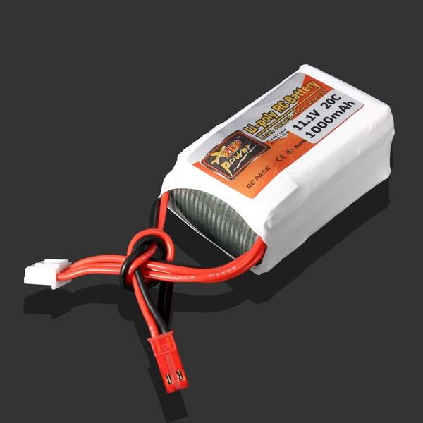 ZOP Мощность 11.1 В 1000 МАЧ 20C Батареи Липо JST Разъем