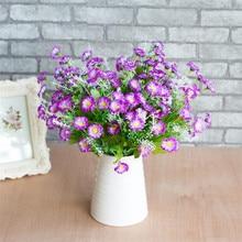 Поддельные мини ромашки(7 стеблей/шт) Моделирование круглые ромашки для дома Свадебные Декоративные искусственные цветы