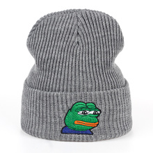 TUNICA Sad Kermit Cap Frog Pepe Feels Bad Man Embroidery Beanies winter Keep warm hat The Meme Hat Skullies gorros
