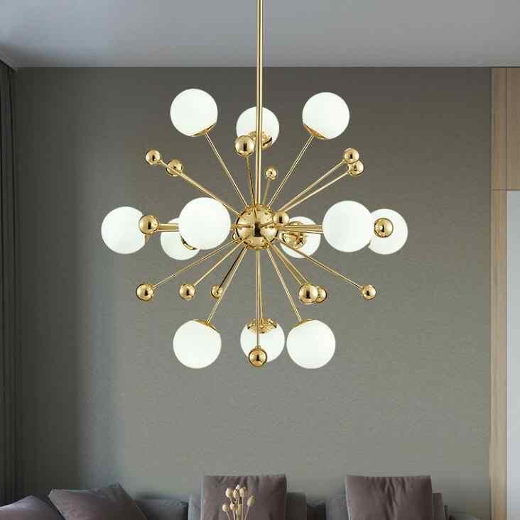 Nouveau postmoderne personnalité créative pissenlit lustre nordique simple chambre lampe salle à manger lustre