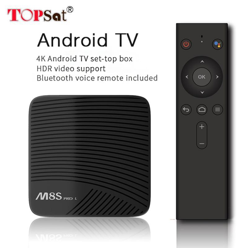 Mecool M8S PRO L TV Box Android 7.1 Amlogic S912 3 gb RAM 16/32 gb ROM 5g wifi BT4.1 Set-top Box avec La Voix Télécommande