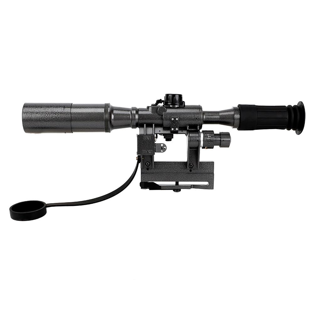 Iluminado Riflescope Tático Mira Óptica Tipo de