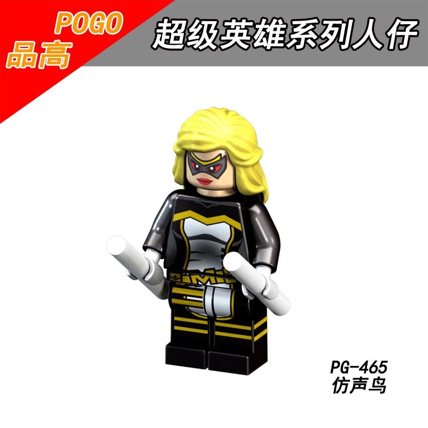CoopéRative Vente Unique Pg465 Legoing Marvel Super Héros Figure Bloc Mockingbird Figurine Jouet Pour Enfant Compatible Super-héros Legoings