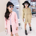 baby girl clothes children clothing fashion cozy long-sleeved jacket long coat cotton 2-7 yrs 2016 autumn winter new outerwear