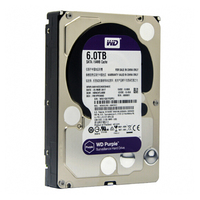 WD Purple 6 ТБ HDD видеонаблюдения жесткий диск 5400 об./мин. класса SATA 6 ГБ/сек. 64 МБ Кэш 3,5 дюймов WD60EJRX