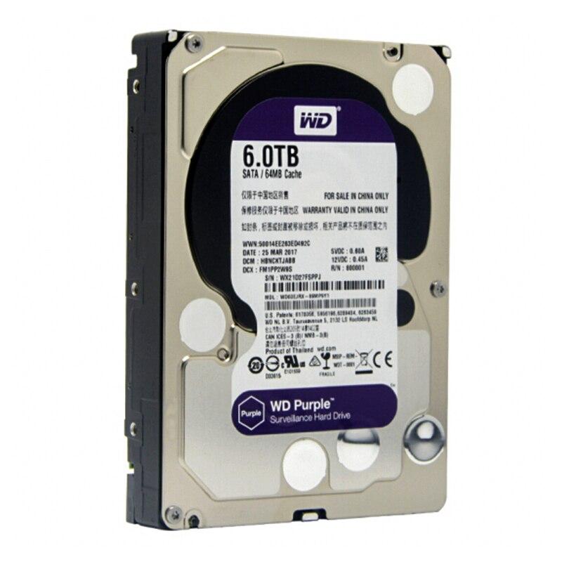 WD Viola 6 TB HDD di Sorveglianza Hard Disk Drive-5400 RPM Classe SATA 6 Gb/s 64 MB Cache 3.5 Pollice-WD60EJRX