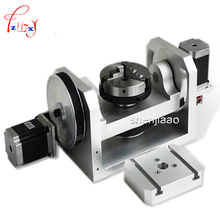 CNC Rotary Axis Axle Spindle with K01-100-Jaw Mandrels for  Mini CNC Router Woodworking Machine Parts FAI DA TE