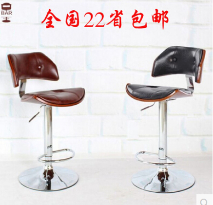 Bar Furniture European High-grade Solid Wood Buffet Chairs Retro High Chair Lift Swivel Chair At The Front Desk