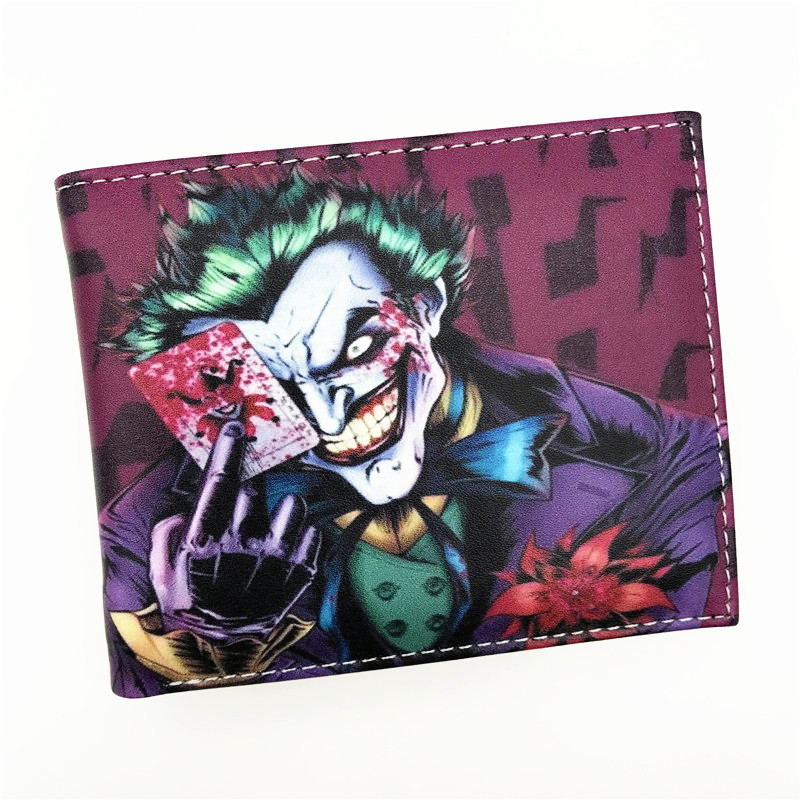 Wallet Comics Movies Suicide Squad The Joker Harley Quinn Enchantress And Bat Man Short Wallets With Card Holder Purse suicide squad neko atsume yo kai watch doctor strange gravity falls high quality pu short wallet purse with button
