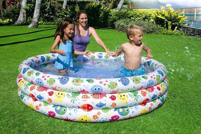 Intex Kinder Fisch Aufblasbares Schwimmbecken Kind Spielen Pool, Größe  168*40 Cm