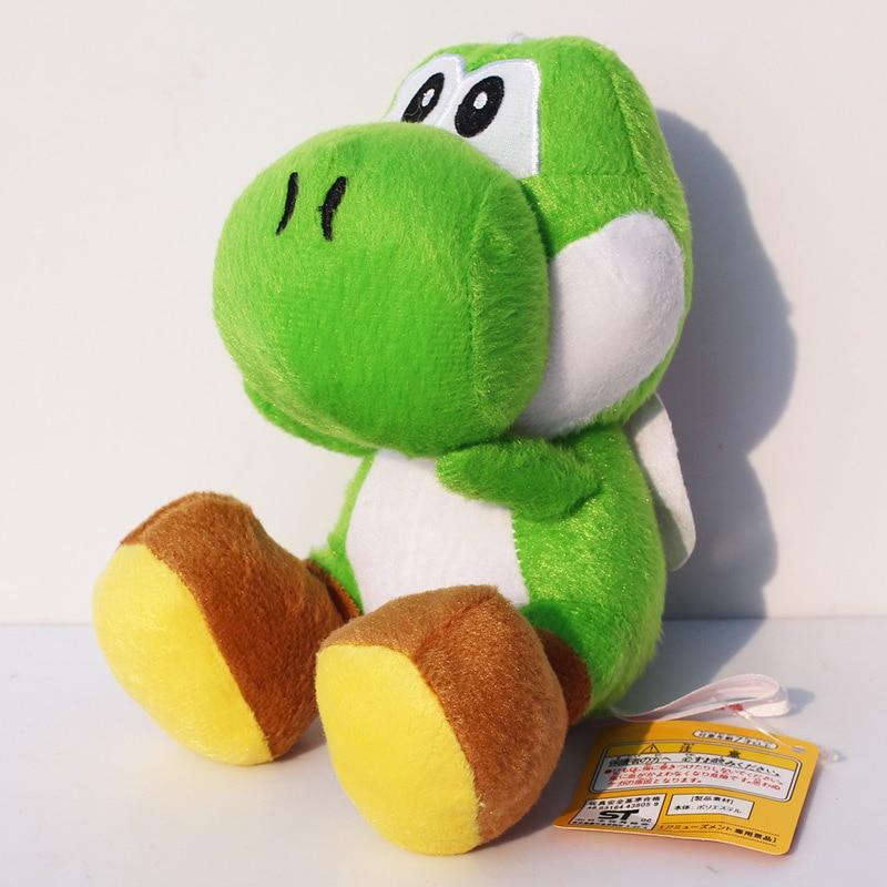"1pcs 9colors Yoshi Plush Doll Super Mario Bros Sitting Yoshi Stuffed Plush Toys 7""18cm Free Shipping 1"