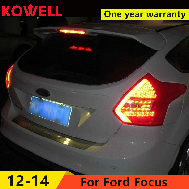 KOWELL Car Styling for Ford Focus 2 taillights 2012 2013 2014 LED Tail Lamp rear trunk