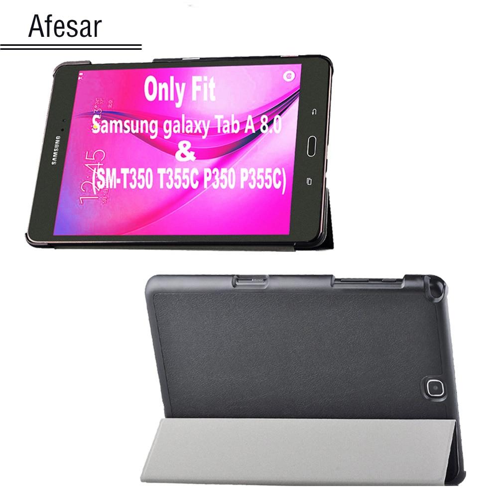 чехол для samsung tab a 8 t350 355 proshield slim case черный Tab A 8.0 case cover Ultra Slim magnet smart Case Cover for Samsung Tab A 8.0 SM-T350 T355C P350 P355C pu leather cover case