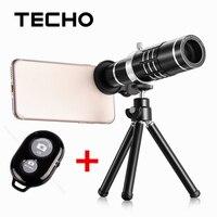 TECHO Universele Clip Telescoop 18X Zoom Optische Telefoon Lens Met Statief en Bluetooth Afstandsbediening Voor iPhone Samsung Mobiel