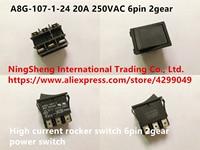 Original new 100% Japan import A8G 107 1 24 20A 250VAC high current rocker switch 6pin 2gear power switch