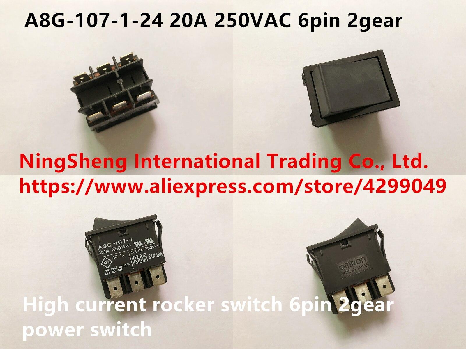 Original nouveau 100% japon importation A8G-107-1-24 20A 250VAC haute intensité interrupteur à bascule 6pin 2 interrupteur d'alimentation