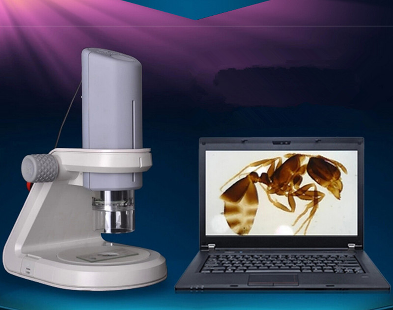 ▽portabel hd usb led digital microscope untuk irisan biologi