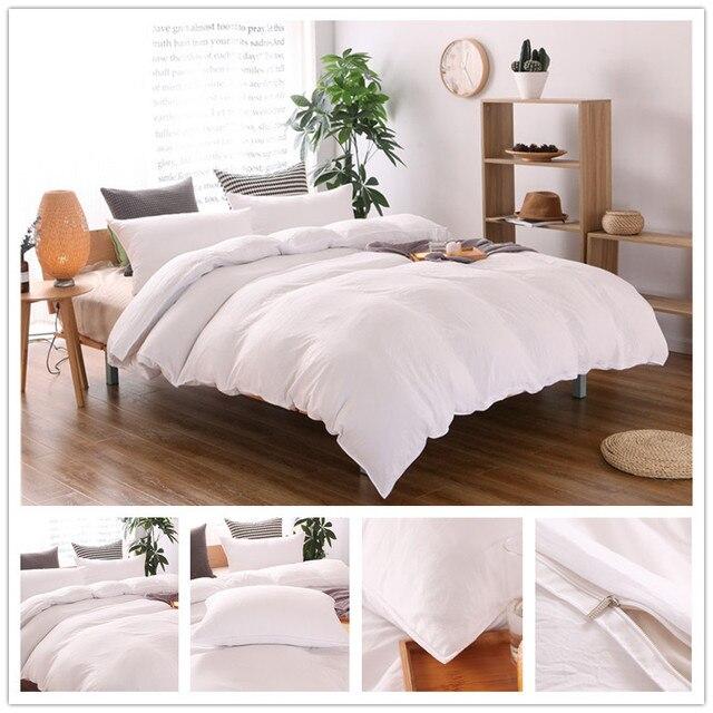 roupa de cama Plain colour 3pcs / 2pcs Bedding set Cotton bed sheet +duvet cover + pillowcase dekbedovertre housse de couette