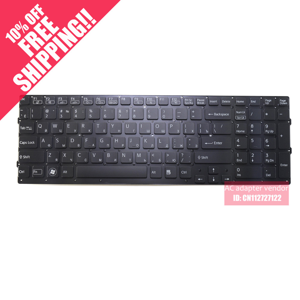 US $26 09 13% OFF RU Russian FOR Sony VPC F2 F21 F22 F23 laptop keyboard  without frame small enter key-in Replacement Keyboards from Computer &  Office