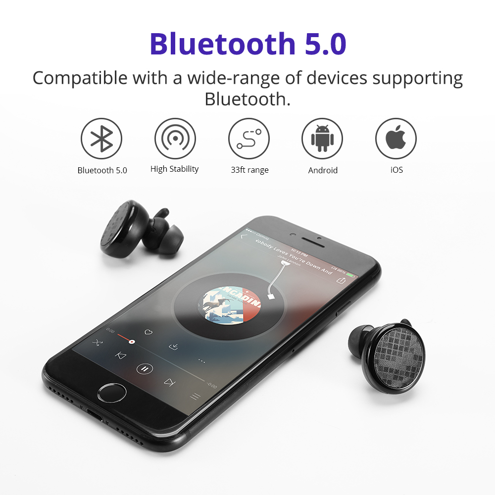 Tronsmart Spunky Buds Bluetooth Earphones IPX5 earphone Wireless Headphones with Bluetooth &Microphone Stereo for Phones 1
