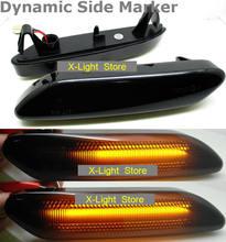 2PCS LED แบบไดนามิกด้านข้างไฟเลี้ยวสัญญาณ Repeater Light Sequential ไฟกระพริบสำหรับ MINI COOPER R60 R61 Countryman 2011  2019