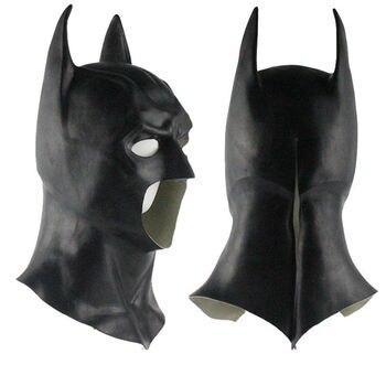 Реалистичные Хэллоуин полный уход за кожей лица латекс маска Бэтмена костюм супергероя Темный рыцарь поднимается фильм маски для вечерние ...