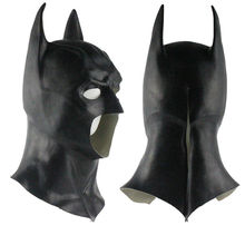 Realistic Halloween Full Face Latex Batman Mask Costume Superhero The Dark Knight Rises Movie Party Masks Carnival Cosplay Props