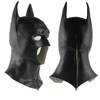 Realistic Halloween Full Face Latex Batman Mask Costume Superhero The Dark Knight Rises Movie Party Masks Carnival Cosplay Props 1pc 3d mask halloween carnival party props full face masks masquerade cosplay props diy horror funny latex mask new 2018