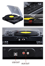 33/45/78 Speed electric Music Turntable, Vinyl records player with stylus, MP3 converter, gramophone vinil player