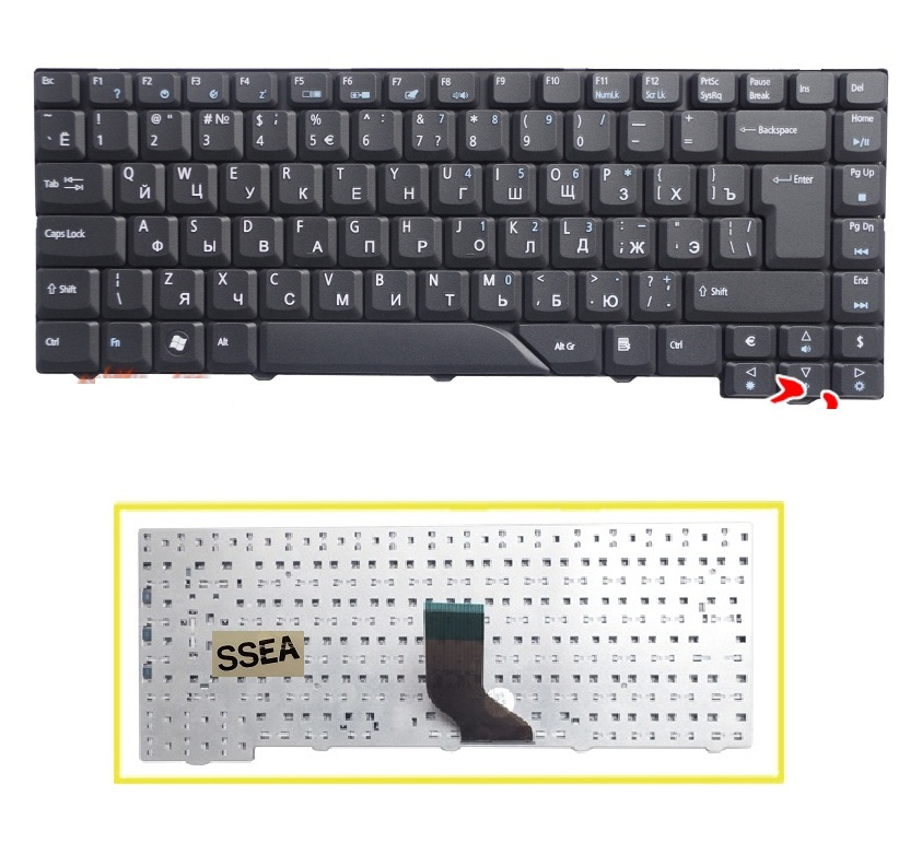 NEW FOR Acer Aspire E1-572G E1-572P E1-572PG E1-731 E1-731G Keyboard Nordic