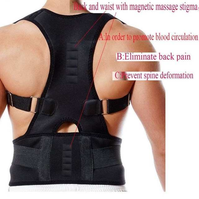 Us 11 2 41 Off Thoracic Magnetic Support For Back Neck Shoulder Upper Back Pain Relief Perfect Posture Corrector Brace For Cervical Cervical In