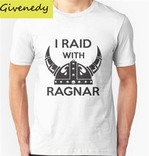 2016 New Arrival I raid with ragnar Men's Cotton T shirt Fashion Casual T Shirt