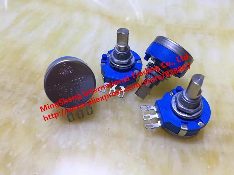 Original new 100% RVQ24YNC 0301 20F 10K B103 potentiometer single turn of 360 degrees (SWITCH) цены