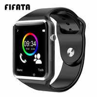 Fifata bluetooth a1 relógio inteligente rastreador de esportes das mulheres dos homens smartwatch ip67 à prova dip67 água a1 relógios para android ios pk p68 iw8 iw9