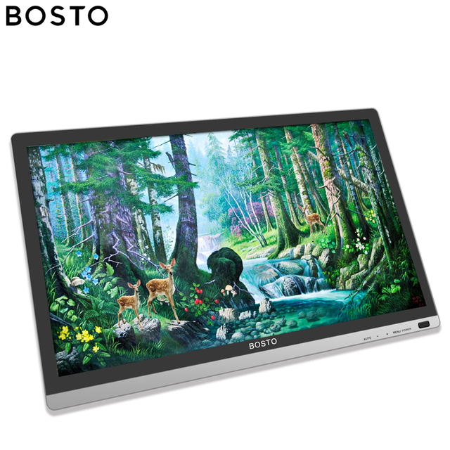 Bosto BT 22U Mini Grafische Magic Drawing Tablet Monitor Voor Kunstenaar Met Waterdicht Scherm En Batterij Gratis Stylus Art Handschoen Stand